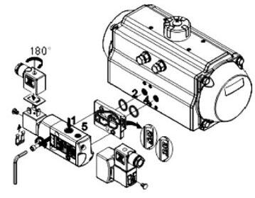 磁阀连接安装图图片